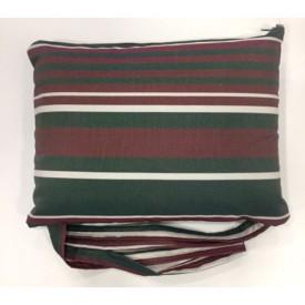 Μαξιλαράκι για στρώμα ξαπλώστρας ριγέ πράσινο μπορντό