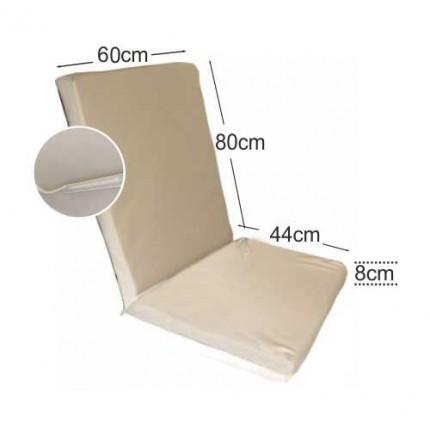 Στρώμα καρέκλας 8cm δερματίνη - ζαχαρί