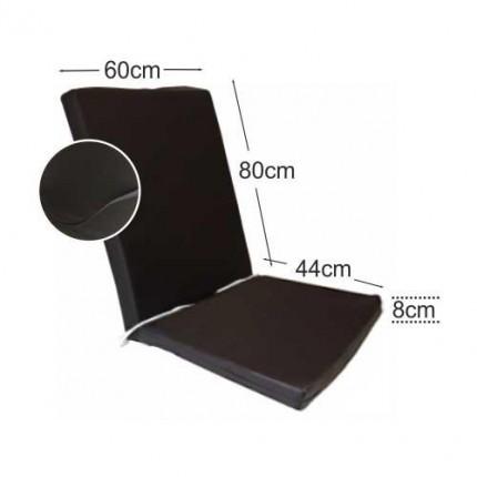 Στρώμα καρέκλας 8cm δερματίνη - σκούρο καρυδί