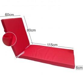 Στρώμα ξαπλώστρας 6cm δερματίνη - κόκκινο της ferrari
