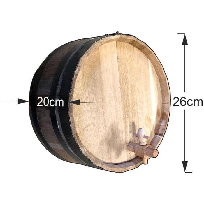 Διακοσμητικό βαρέλι τοίχου 26x20cm