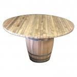 Διακοσμητικό βαρέλι τραπέζι κήπου - παραλίας Δ110cm