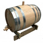 Βαρέλι κρασιού - τσίπουρου ξύλινο - δρύινο - 10lt