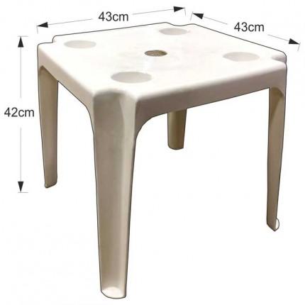 Πλαστικό τραπέζι παραλίας με άνοιγμα 43x43