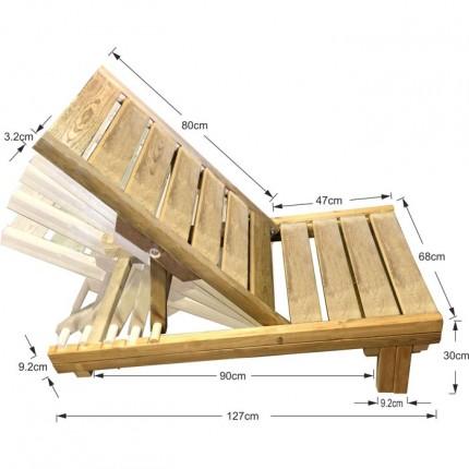 Ξύλινη καρέκλα παραλίας/κήπου επαγγελματική - TESIAS